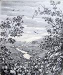 Кулагин Олег - Вид на долину с рекой.