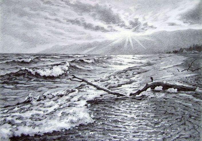 Волны Баргузинского залива.