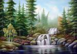 Kulagun Oleg - Forest waterfall.