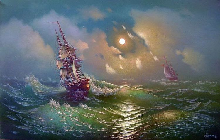 Ships in the night storm..