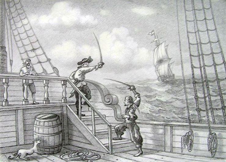 Pirate scene.