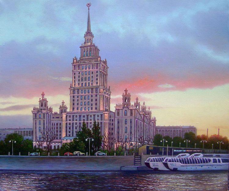 Москва. Сталинская высотка на набережной Тараса Шевченко.