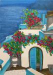 Santorini Island. Sketch.