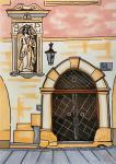 The Iron Door. Sketch.
