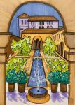 The Fountain in the Garden. Sketch.