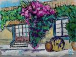 Small Yard with Bougaenvillea. Sketch.