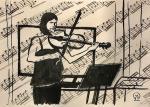 Violinist. Sketch.