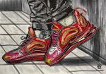 Красные кроссовки. Скетч.