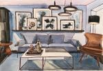 Gray Interior. Sketch.