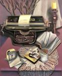 Натюрморт с печатной машинкой