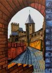 Средневековый замок. Скетч.