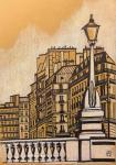 Парижские фонари. Скетч.